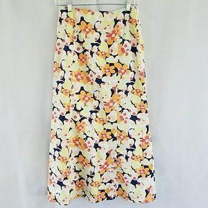 Maxi Flare 70's Boho look Summer Floral Skirt